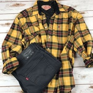 Tommy Hilfiger Plaid Flannel Button Up Shirt